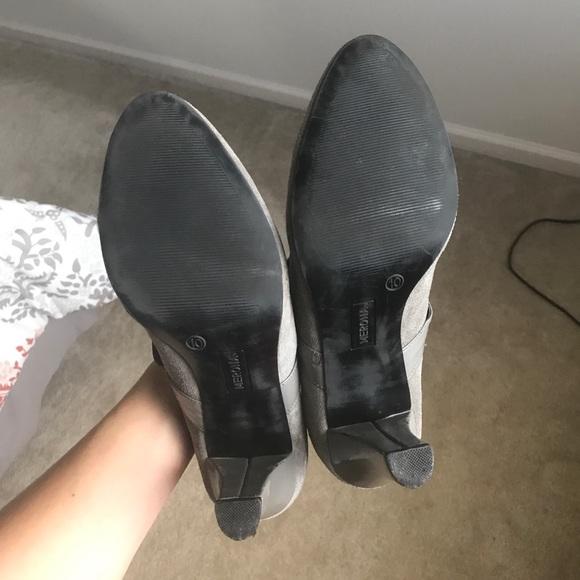50 merona shoes grey suede merona heels