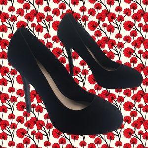 "new! Steve Madden black suede 5"" heels"