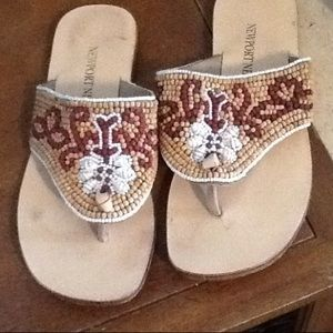 Shoes - FINAL SALE. Beach shells and beads sandals Size 5