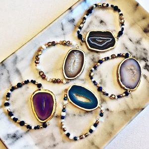 Whimsy Jewelry - (5) Agate Quartz Bracelet