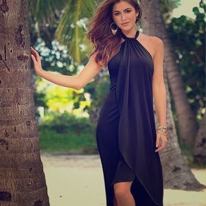 Black Halter Style Summer Dress