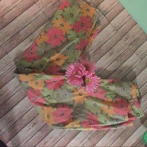 susan bristol Pants - Susan Bristol floral straight leg pant