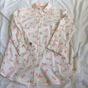 postmark anthropologie bicycle button up size 2