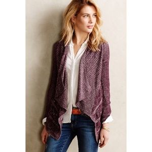 Anthropologie Sweaters - Anthropologie Moth Draped Pointelle Cardigan