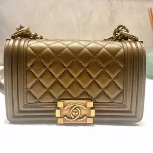 e9e602f5fdd8 CHANEL Bags - Chanel Small Boy Bag Gold Crossbody