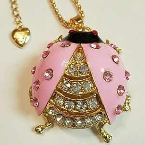 Betsey Johnson Jewelry - Absolutely gorgeous pink and gold ladybug