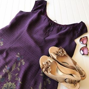 Venezia Dresses & Skirts - Venezia Purple Floral Sleeveless Dress