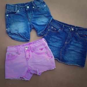 Justice Other - Jean Shorts and Mini Skirt