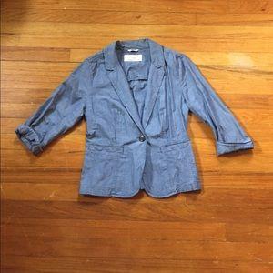 Caslon Jackets & Blazers - Caslon Chambray Blazer | Size S