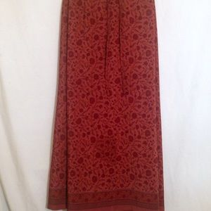 Venezia Dresses & Skirts - 🌸SALE VENEZIA RED PRINT SHEER MAXI SKIRT
