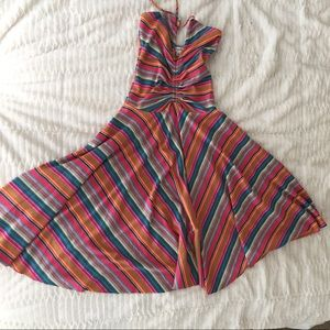 Corey Lynn Calter Dresses & Skirts - Corey Lynn Calter colorful striped halter dress