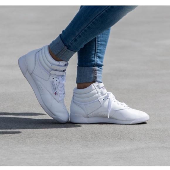 Almeja La ciudad palo  Reebok Shoes | Reebok Classic Freestyle Hi In White | Poshmark