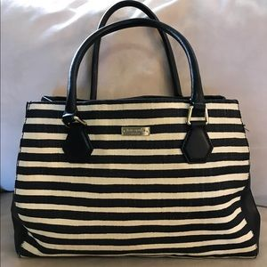 Striped textured woven Kate Spade Tote