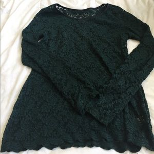 Maurices Tops - cute maurices green lace long sleeve size XL