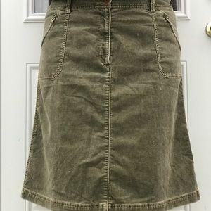 Eddie Bauer Dresses & Skirts - Eddie Bauer LIKE NEW Corduroy Skirt -Olive Sz 20