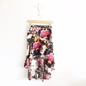 Kimchi Blue Dresses & Skirts - Urban Outfitters Kimchi Blue Floral Hi-Low Skirt