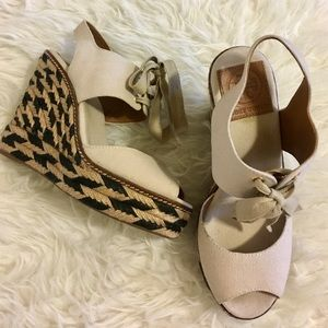Tory Burch Shoes - Tory Burch wedge espadrilles Peep toe sandal size7