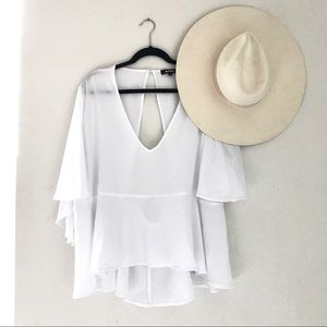 Missguided + Tops - Missguided White Backless Blouse