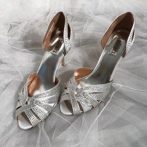 Badgley Mischka Womens High Heels Wedding Bride