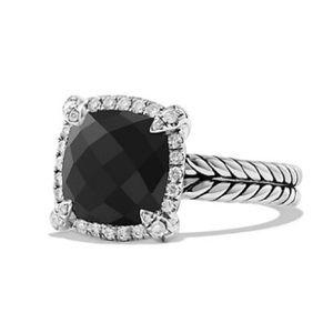 David Yurman Jewelry - David Yurman Chatelaine Pave Bezel Ring Black Onyx