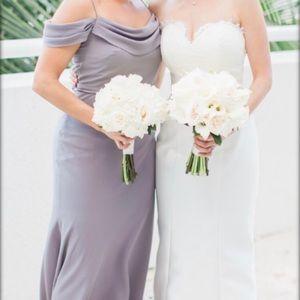 Dove gray Jenny Yoo Collection bridesmaids dress