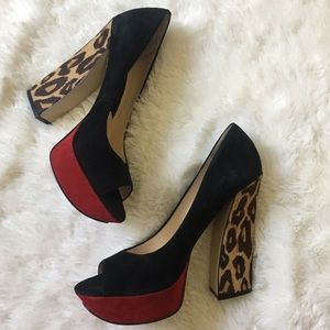 Boutique 9 Shoes - Boutique 9 ​All Suede Sky High Platform Pumps