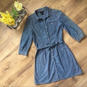 Calvin Klein Jeans Dresses & Skirts - CALVIN KLEIN Button Down Jean Dress - M