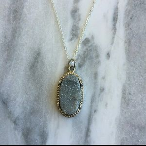 Simple Sanctuary Jewelry - Grey Druzy Stone Necklace 🎉 COMING SOON