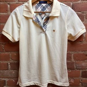 Burberry Tops - Authentic Burberry Nova Check Pastel Yellow Polo