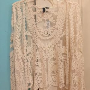 Mascara Sweaters - Lace Cardigan