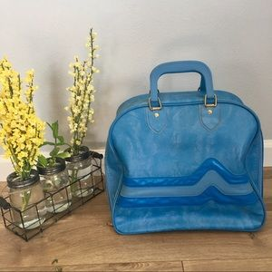KR Industries Handbags - VINTAGE KR INDUSTRIES Blue Bowling Ball Bag