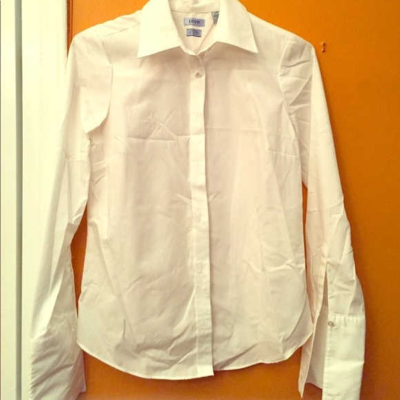 62 off izod tops new white french cuffs button down no for Izod button down shirts