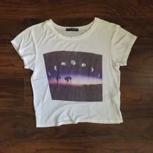 Brandy Melville Tops - Brandy Melville phases of the moon crop