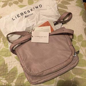 Liebeskind Handbags - Liebeskind Suzuka leather crossbody macaque pink