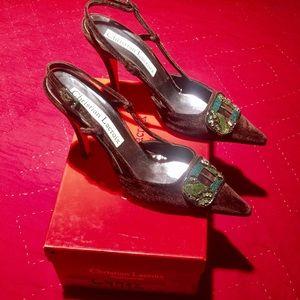 Christian Lacroix Shoes - Christian Lacroix Beaded Velvet Pumps With Box