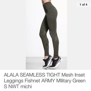 Alala Other - ALALA SEAMLESS TIGHT Mesh Inset Leggings NWT
