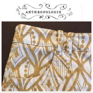Anthropologie Pants - Anthropologie Elevenses high waist print shorts