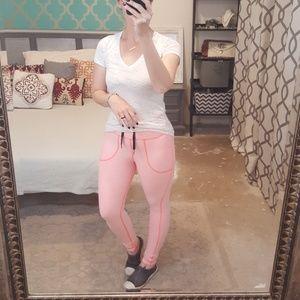 lululemon athletica Pants - Lululemon Athletica Skinny Will Neon Pink Leggings