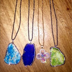 Jewelry - NOT KS Stone pave necklaces