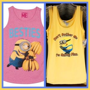 Tops - Two Juniors Minion Lounge Tanks