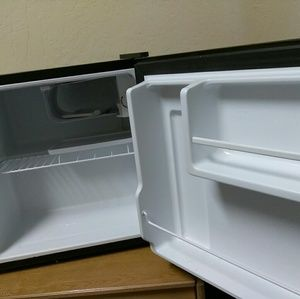 Black small mini fridge, used for sale
