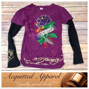 Ed Hardy Other - {Girls} [Ed Hardy] Long Sleeve Tee
