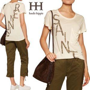 Haute Hippie Tops - HAUTE HIPPIE Sinner Saint Rolled T-Shirt Sz Small