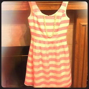NWOT Lilly Pulitzer Striped Dress in Pink+White