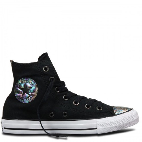 7796fa1e38e2 Converse Shoes - Converse chuck Taylor OX oil slick high tops RARE