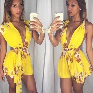 Pants - Sheer Floral Romper