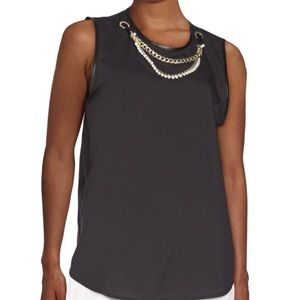 Karl Lagerfeld Tops - Karl Lagerfeld top with attached necklace