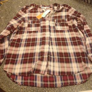 Collective Concepts Tops - NWT Collective Concepts stitch fix L plaid blouse