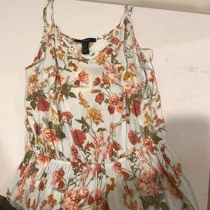 Forever 21 Dresses & Skirts - Forever 21 Jumpsuit cami light blue floral romper
