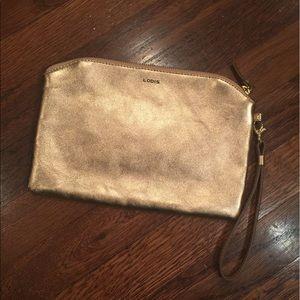 Lodis Handbags - SUPER SALE 💥Leather LODIS Rose Gold Wristlet